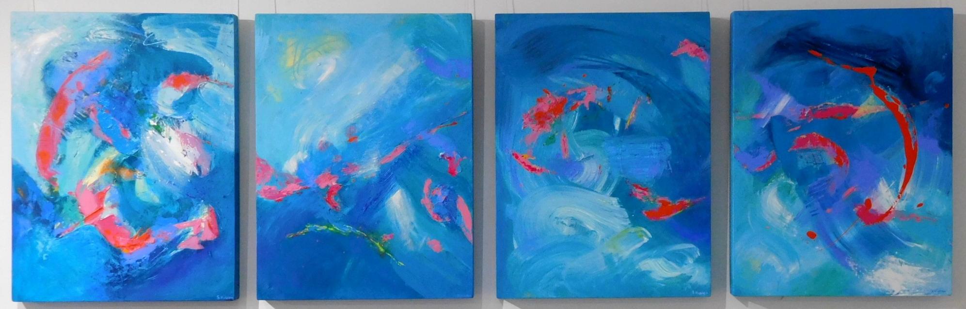 Teal Abstract Art Uk